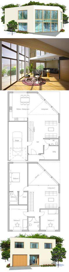 Hausplan, modernes Haus