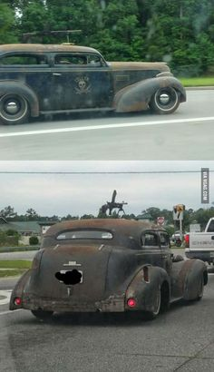 An awesome rat rod.