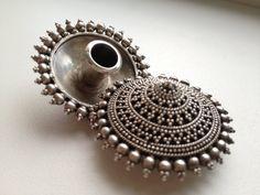 Rajasthani Tribal Silver Handmade Plug Earrings by DenisaUhliarova, $220.00