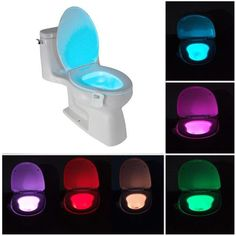 You can set your Toilet Light to any single color or color-rotate (Red, Orange, Green, Teal, Blue, Purple, Pink, White or any shade in between!). Your IllumiBowl color-changing night light will make your toilet bowl glow every time you walk into your bathroom at night.   https://www.peakinspire.com/products/toilet-light-motion  #Gadget #Gadgets