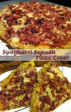 Paleo Roasted Spaghetti Squash Pizza Crust #paleo #dairy free #gluten free