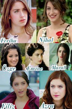 Hazal kaya Turkish Women Beautiful, Turkish Men, Turkish Beauty, Turkish Actors, Feriha Y Emir, Caucasian Girl, Celebrity Magazines, Nail Design Video, Girl Photo Poses