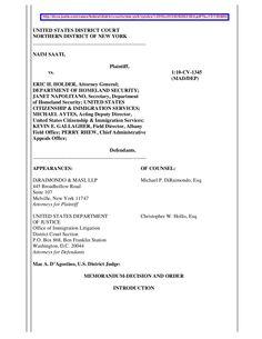 saati-v-holder-et-al-uscis-nd-ny-july-21-2011-dismissed by BigJoe5 via Slideshare