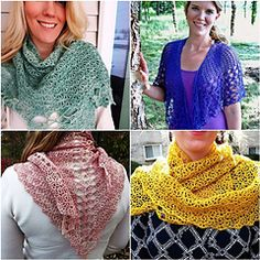 A Trio of Shawls 3 patterns for $13.99 Full charts & written patterns by Sara Kay Hartmann