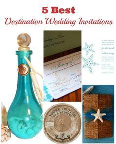 5 Best Destination Wedding Invitations of the year- Destination Wedding Details