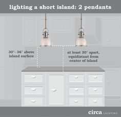 HOW TO HANG PENDANT LIGHTS OVER AN ISLAND