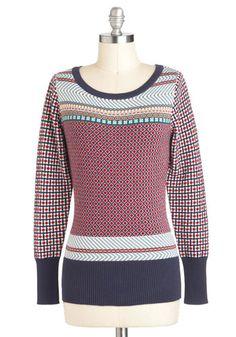 Cookbook Club Sweater, #ModCloth  Vintagey sweater