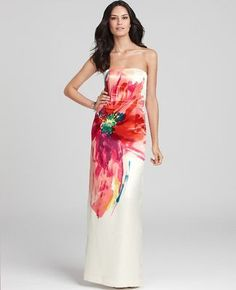 Watercolor gown