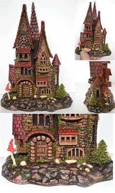 Fairy castle  Hand carved gift House decoration by WoodWorksUA