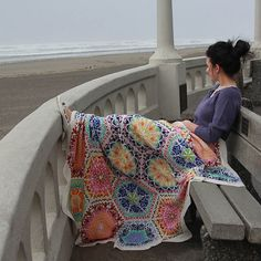 PERSIAN DREAMS BLANKET -- Hexagon motifs are grafted together to create a complex web of colourwork, all in eastern inspired motifs. This is not a quick project, but it is very enjoyable. Each hexagon is knit in the round, from the center out, the colorwork is always on the right side, and the border also is knit onto each hexagon as you go. As you finish hexagons, you can begin to graft them together.