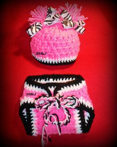 Crochet  Hat and Diaper cover set  Baby by SubasJandSualyJShop, $20.00