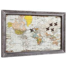 Magnettafel mit Weltkartenmotiv ♥ ab 39,90 € ♥ Hier kaufen: http://stylefru.it/s647647 #traum #welt #wanderlust #deko