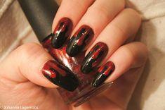 Blood drip nails