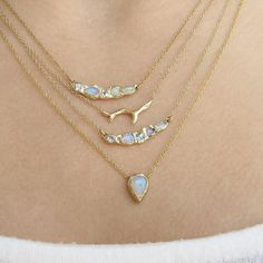 Opal the stone of inspiration always motivates me to keep creating. How do they make you feel?| Journey Mermaid Necklace, Branch Necklace and Compass Opal Necklace | ~ Misa Jewelry