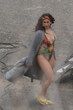 Lauren on set for All In My Head (Flex) in Malibu