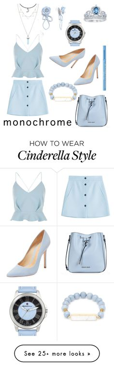 """""""OOTD #26 ALL IN BLUE"""" by varenneck on Polyvore featuring Paul & Joe, River Island, ASOS, Too Faced Cosmetics, Armani Jeans, Elise M., Schutz, Bernoulli and Disney"""