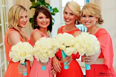These Disney bridesmaids really knew how to rock the mismatched dress trend