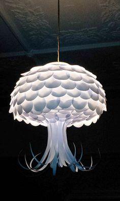 Jellyfish Paper Hanging Light Shade - Home Decor, Pendant Light, Entry Light, Ceiling Light via Etsy