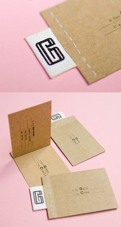 Earthy Interactive Stitched Business Card Design
