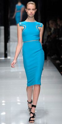 So digging this Versace dress. The color is beautiful!