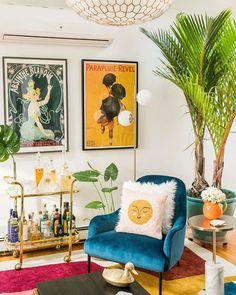 Ideas Habitaciones, Colourful Living Room, Cozy Eclectic Living Room, Colourful Bedroom, Colorful Rooms, Eclectic Decor, Eclectic Bedrooms, Eclectic Modern, Funky Home Decor