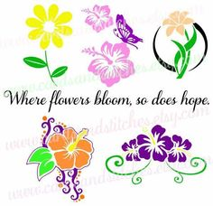 Flowers SVG - Flowers in Bloom SVG - Digital Cutting File - Graphic Design - Cricut Cut - Instant Download - Svg, Dxf, Jpg, Eps, Png by cardsandstitches on Etsy