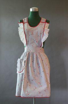 1940's pinafore apron