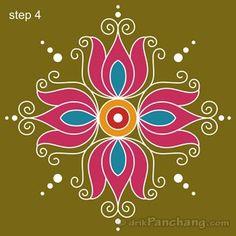 Simple Rangoli Step 4
