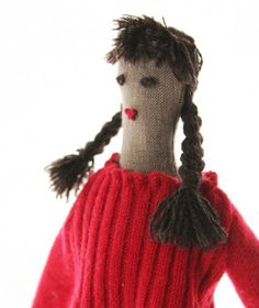 Handmade Upcycled Cloth Doll With 2 Outfits by PatchyPals on Etsy, $80.00