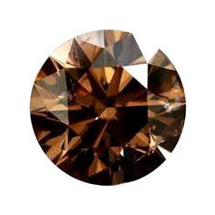 0.58 Carat Fancy Dark Brown Loose Diamond Natural Color Round Cut