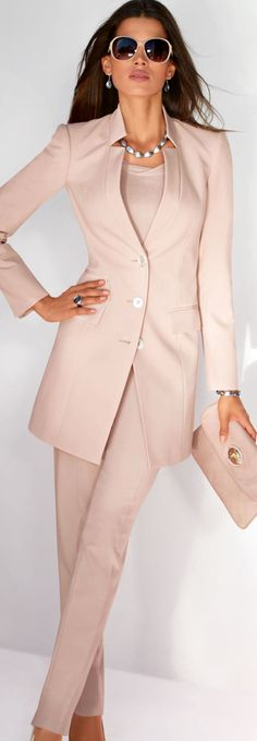 Classic blush, work chic.