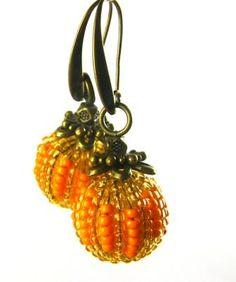 Pumpkin Spice Earrings - Spoilt Rotten Beads