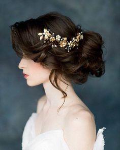 30 Amazing Wedding Hairstyles with Headpiece   hair   Pinterest ...