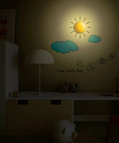Look what I found on #zulily! Partly Cloudy LED Wall Sticker Lamp by WallStickerLamp #zulilyfinds