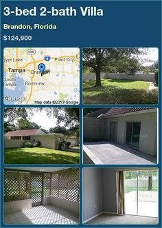 3-bed 2-bath Villa in Brandon, Florida ►$124,900 #PropertyForSale #RealEstate #Florida http://florida-magic.com/properties/6114-villa-for-sale-in-brandon-florida-with-3-bedroom-2-bathroom