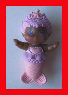 VINTAGE RARE 80's SEA WEES SILKY DAUGHTER BABY FLUTTER PVC FIGURE BUBBLE BALLET  #Kenner #AfricanAmericanBlackBabyFlutterSeaWeeFigure