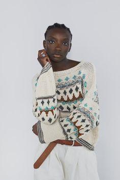 Zara Fashion, Knitwear Fashion, Knit Fashion, Ropa Free People, Girls Sweaters, Sweaters For Women, Knit Vest Pattern, Chunky Knitwear, Knit Picks