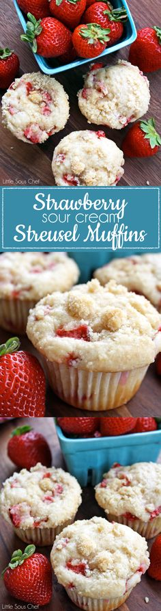Strawberry Sour Cream Streusel Muffins