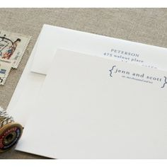 good thing i know my way around indesign... walnut paperie stationary