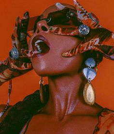 Kim Shui Mesh Print Dress with Gloves Worn by Dawn Richard Black Girl Aesthetic, Orange Aesthetic, Aesthetic Women, Editorial Photography, Portrait Photography, Fashion Photography, Friend Photography, Photography Jobs, Photography Lighting