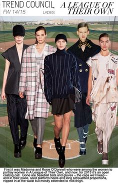 In a league of their own - Women fashion trend forecast: Fall-Winter themes from TREND COUNCIL 2014 Trends, 2014 Fashion Trends, Trend Forecasting, Fashion Forecasting, Fall Winter 2014, Autumn Winter Fashion, Trend Council, Fashion Colours, Fashion Prints