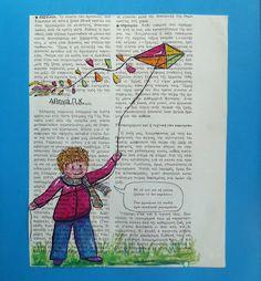 ΒΟΛΤΑ ΣΤ΄ΟΝΕΙΡΟ: Ο ΧΑΡΤΑΕΤΟΣ ΜΕ ΤΙΣ ΕΥΧΕΣ Baseball Cards, Cover, Books, Art, Art Background, Libros, Book, Kunst, Performing Arts