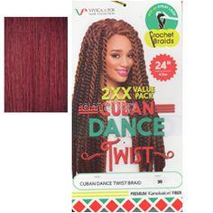 "Vivica Fox Cuban Dance Twist 24"" - Color 132 - Synthetic Braiding"
