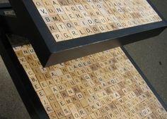 scrabble tile end table by ernestine