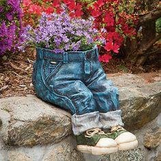 Garden Accessories -- Denim Planter