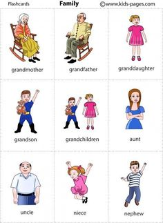 3º primaria: Inglés- Vocabulary flashcards : Family / vocabulario: familia