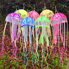 Your place to buy and sell all things handmade Recycled Crafts, Diy Crafts, Jellyfish Light, Pool Party Decorations, Underwater Sea, Mermaid Jewelry, String Lights Outdoor, Mermaid Birthday, Artisanal
