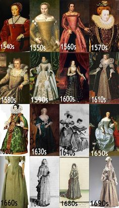 Baroque & Rococo Fashion: Soft Silhouette of 17th Century. Portrait timeline