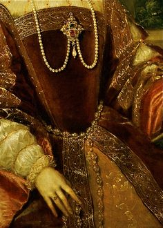 Empress Isabel of Portugal (detail), Tiziano Vecellio, 1548