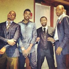 Clippers game day fashion. Mo Williams looks like a deacon